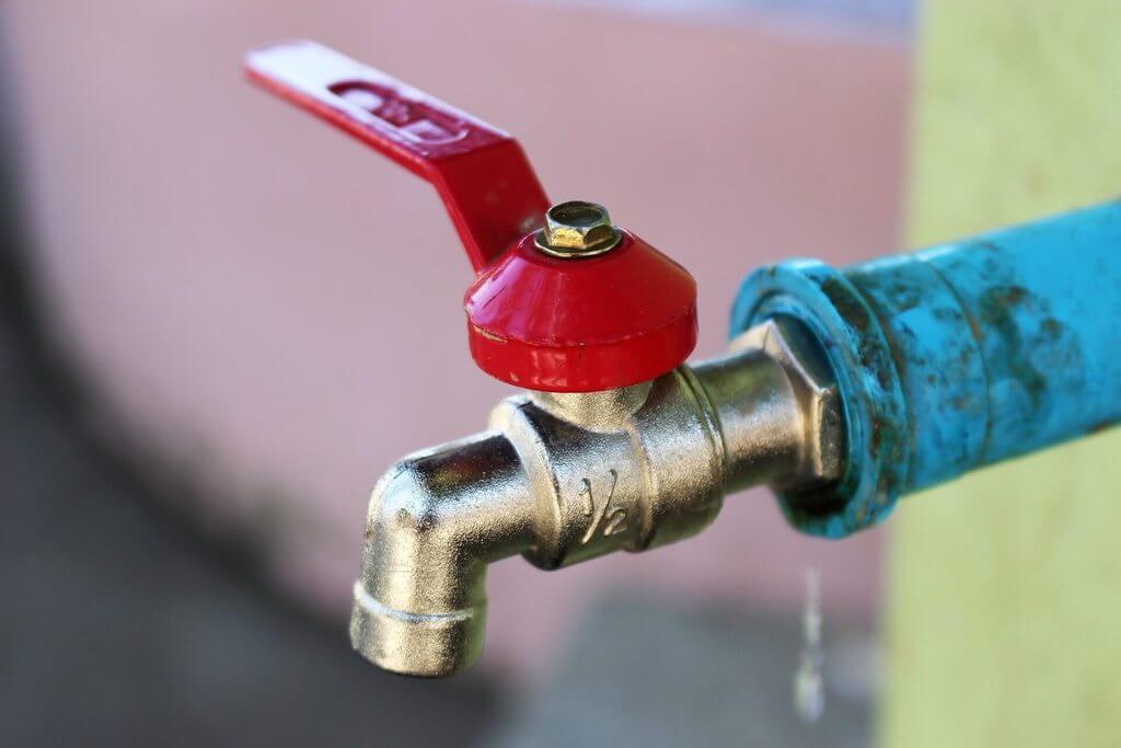 Ventil za zatvaranje vode na vodovodnom cvoruner